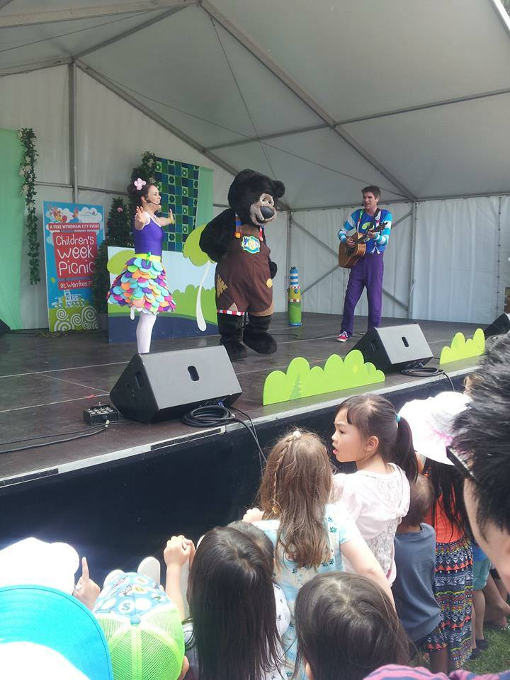 image of one of the festivals with The Kazoos Festival Show