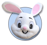 image of easter bunny roving for festivals